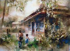 lin ching che paintings | Тайваньский художник Lin Ching Che