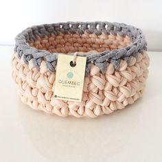 Crochet basket PASTELOVE crochet basket crochet bowl by Quembec