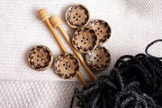 Grandma's buttons hand made set of 6 buttons by Walnuttreebuttons