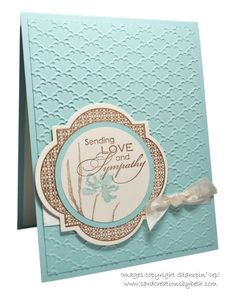 the Fancy Fan embossing folder really adds a bit of lovely texture to the background...