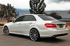 White Mercedes Benz E350 W212
