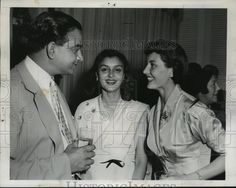Maharaja of Jaipur Sawal Maan Singh II with his wife Maharani Gayatri Devi on their Hollywood visit, 1952. Seen here at a party thrown in their honor at Beverly Hills Hotels by Tony Martin and his actress wife Cyd Charisse, August, 1952.By Rohit Sonkiya