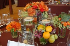 Country Garden Flowers - Napa and Sonoma County Wedding Florist Hall Winery, Centerpieces, Table Decorations, Organic Fruit, Sonoma County, Fall Flowers, Garden, Wedding, Valentines Day Weddings