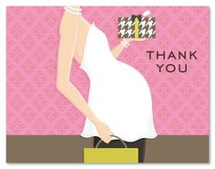 girl glee baby shower thank you cards 20781 baby shower