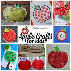 Ultimate list of apple crafts for kids!