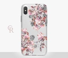 Floral Clear Phone Case  Clear Case  For iPhone 8  iPhone X