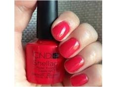 Step-by-Step Guide to - CND Shellac - Lobster Roll. Shellac Nail Polish Colors, Shellac Nails, Nail Manicure, Gelish Colours, Cute Pink Nails, Nagel Gel, Gorgeous Nails, Pretty Nails, Nails Inspiration