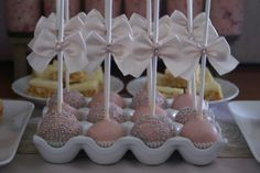 Egg holders--always a great idea for cake pops