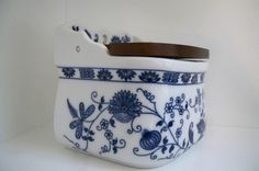 Vintage Blue and White China Salt Box / Pig by ThisandThatCapeCod, $22.50