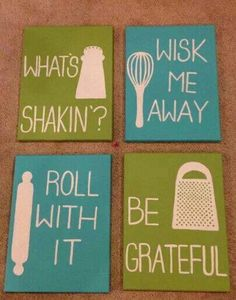 Cute kitchen signs