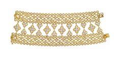 Van Cleef & Arpels A Diamond and Gold Bracelet, 1972, #stoneandstrandloves #inspiration #vancleefandarpels #gold #diamond #bracelet #vintage #jewelry