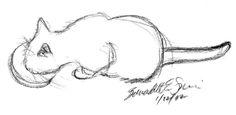"jellyfish sketch    Jelly Bean Breakfast"", vine charcoal, 8″ x 6″ © Bernadette E ..."
