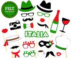 Felt Italian Photo Booth Props - Italy Props