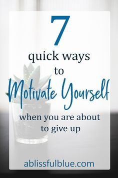 Tips To Instantly Motivate Yourself - A Blissful Blue Useful tips to quickly motivate yourself and finish your work! Useful tips to quickly motivate yourself and finish your work! Motivate Yourself, Improve Yourself, Finding Yourself, Self Development, Personal Development, Weight Loss Motivation, Work Motivation, Change Your Life, Self Improvement Tips
