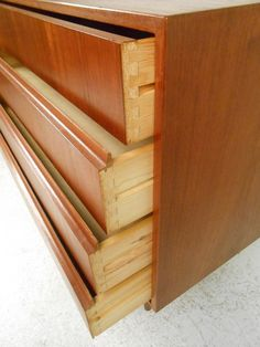 Mid Century Modern Low Danish Teak Dresser