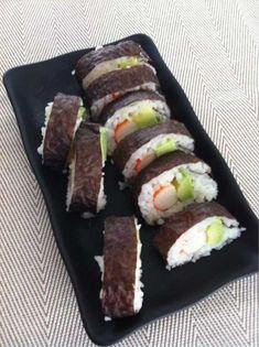 Receta de Maki sushi de aguacate y surimi