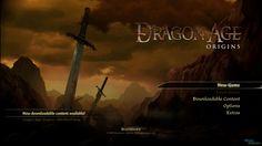Dragon Age Origins Title Screen