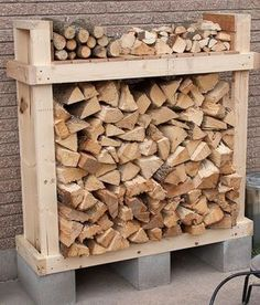 Built a firewood rack for 1/2 rick