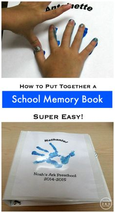 Preschool Memory Book - a super easy way to store artwork, pictures, and other memorabilia. Teaching 2 and 3 Year Olds