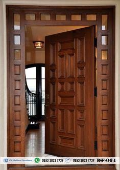 Pintu Rumah Utama Modern 1 Pintu Desain Pintu Rumah Utama Modern 1 Pintu Jual Pintu Rumah Uatam Minimalis bahan Kayu jati Harga Murah
