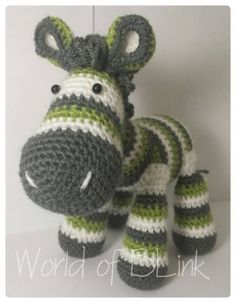 Crochet Zebra   World of BLink MISI Handmade Shop I have this pattern the colors are amazing