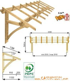 Canopy Price Wood awning: Garage or window awning 1 pan . Diy Awning, Porch Awning, Patio Pergola, Porch Roof, Pergola Kits, Pergola Ideas, Gazebo, Diy Wood Projects, Home Projects