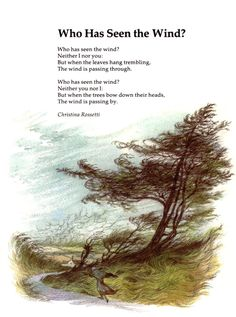 Beautiful poem about the wind by Rossetti - great for reading with kids