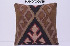 VIEW ALL KILIM PILLOWS http://www.etsy.com/shop/DECOLICKILIMPILLOWS  HAND WOVEN ORIENTAL TURKISH KILIM PILLOW COVER by DECOLIC TURKIYE.  1- Size: 20x20 Inches / 50x50 cm. 2- Material: Wool & Cotton 3- Front side: Unique Kilim Rug Fabric 4- Back side is cotton fabric with hidden zipper. 5- Shipping worldwide. ----------------------------------------------------------------------------------------------- You can also buy insert for this pillow cover by visiting: www...