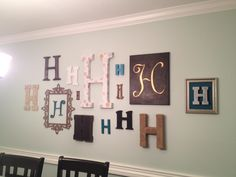 Image of: Monogrammed Wall Decals