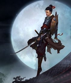character Hayato idea of what he looks like#male #katana #hairbun