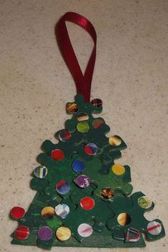 how to create a fun and easy christmas tree ornament from recycled items - Recycled Christmas Ornaments