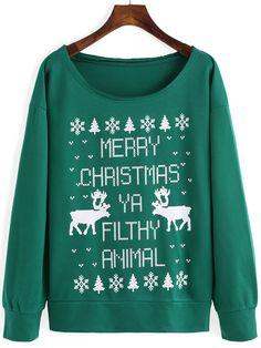 sudadera árbol de navidad cachorro-verde