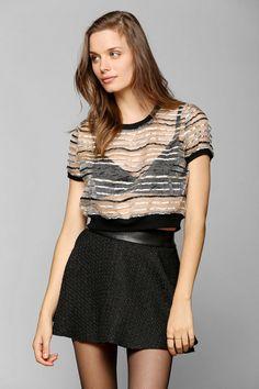 Silence + Noise Textured Circle Skirt