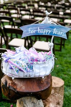 These cute floral handkerchief wedding favors are one of our WeddingWire editors' top picks. WeddingWire has tons of wedding favor recommendations at all price points. Click for more wedding favor ideas. Planning your wedding has never been so easy (or fun!)! WeddingWire has tons of wedding ideas, advice, wedding themes, inspiration, wedding photos and more. {Leah Marie Photography}