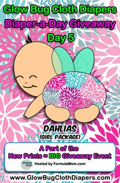 Girlsday5dahlias giveaway over at Glow Bug!!  A giveaway a day in August!