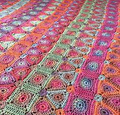 Crochet Blankets Design Ravelry: Lilian Crochet Blanket pattern by Amanda Perkins - Form Crochet, Crochet Quilt, Crochet Geek, Crochet Blanket Patterns, Crochet Motif, Crochet Gifts, Crochet Ideas, Hand Knit Blanket, Knitted Blankets