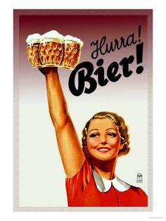Vintage Danish beer adevertising. // Antiguo anuncio de cerveza danés.