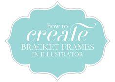 How-to Video Tutorial on Making Bracket Frames in Illustrator from @nicolesclasses
