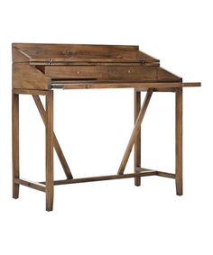 This Oak Keith Writing Desk is perfect! #zulilyfinds