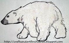 Salt Sensory Art - Polar Bear Craft