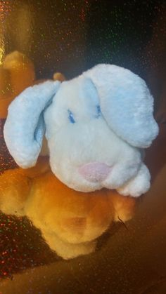 Vintage Animal Alley Blue White Puppy Plush Stuffed Rattle Baby  #AnimalAlley #puppy #rattle Misfit Toys, White Puppies, Baby Toys, Dinosaur Stuffed Animal, Plush, Blue And White, Animals, Vintage, Animales