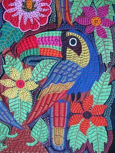 Birds of Paradise, Mola tapestry, Panama.  Photo: Kathleen Othon