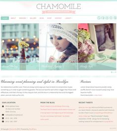 Chamomile WordPress Theme is a clean and nice small premium business WP theme from BluChic.