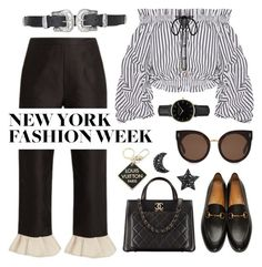 """""""#NYFW"""" by transitionmetals ❤ liked on Polyvore featuring Isa Arfen, Caroline Constas, STELLA McCARTNEY, Gucci, Chanel, ROSEFIELD, Louis Vuitton, Topshop and NYFW"""