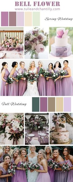 2021 popular wedding color inspiration with mismatched purple bridesmaid dresses in bell flower for spring and fall wedding Wedding Blog, Fall Wedding, Wedding Events, Wedding Photos, Bling Wedding, Weddings, Purple Bridesmaid Dresses, Bridesmaids, Popular Wedding Colors