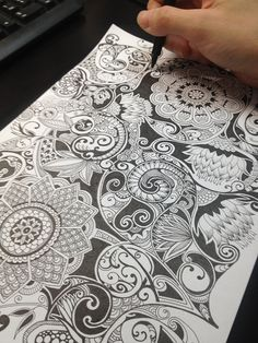Amazing step by step images by Noah's Art look for zendoodle videos and different `doodles`