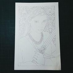 #WIP #QueenOfSwords #FayeOsman #78Tarot #seventyeighttarot #queen #warrior #crown #sketch #concept #thumbnail #design #illustration #unfinished #drawing https://www.facebook.com/studiomimosa.art