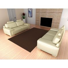 Somette Signature Chocolate Area Rug (12' x 12') (12 ft. x 12 ft. Signature Chocolate Area Rug)