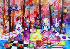 Mad Hatters Tea Party by Kerry Darllington