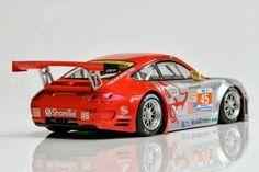 Slot cars, FlySlot Porsche 997 RSR, 704103, 'Flying Lizards Motorsport', Laguna Seca 2010